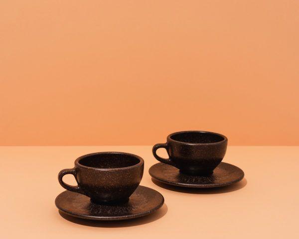 Kaffeeform Cappuccino Cups mit Untertassen im 2er Set