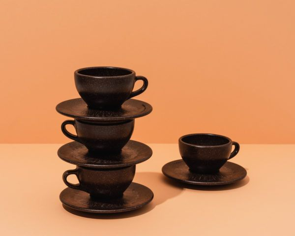Kaffeeform Cappuccino Cups mit Unteratassen im 4er Set