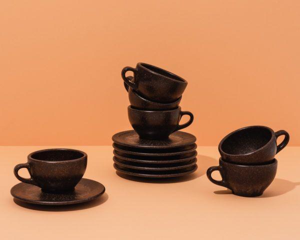 Kaffeeform Cappuccino Cups mit Unteratassen im 6er Set