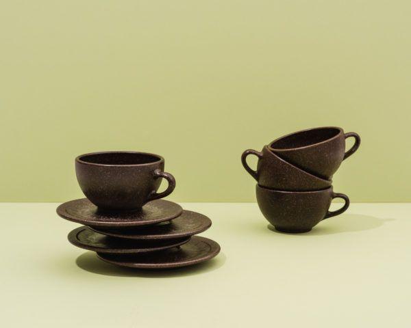 Kaffeeform Latte Cups mit Untertassen im 4er Set