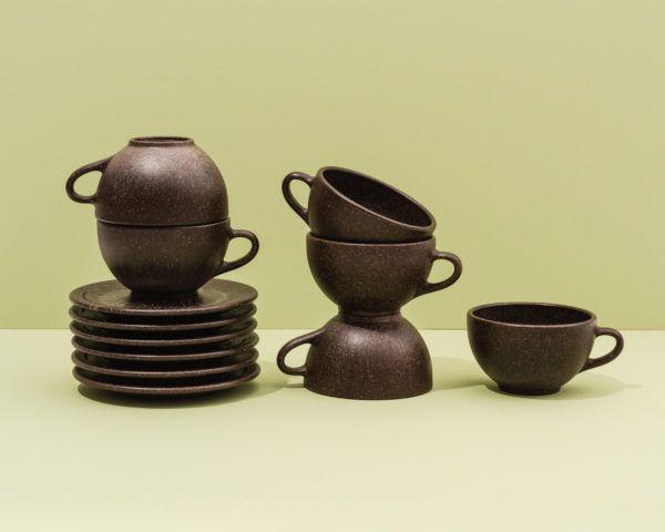 Kaffeeform Latte Cups mit Untertassen im 6er Set