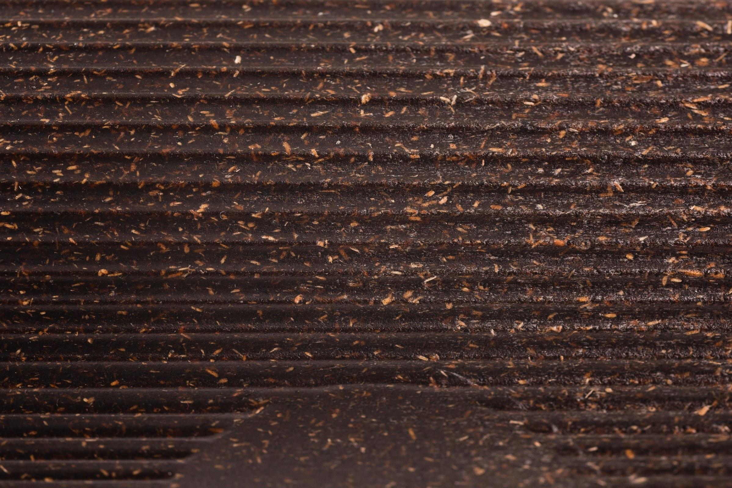 Detailansicht Kaffeeform Weducer Rillen