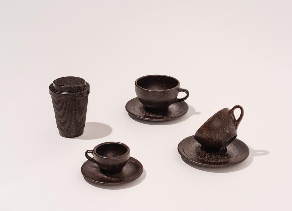 Kaffeeform Weducer, Espresso, Cappuccino und Latte Cups vor einem neutralen Hintergrund