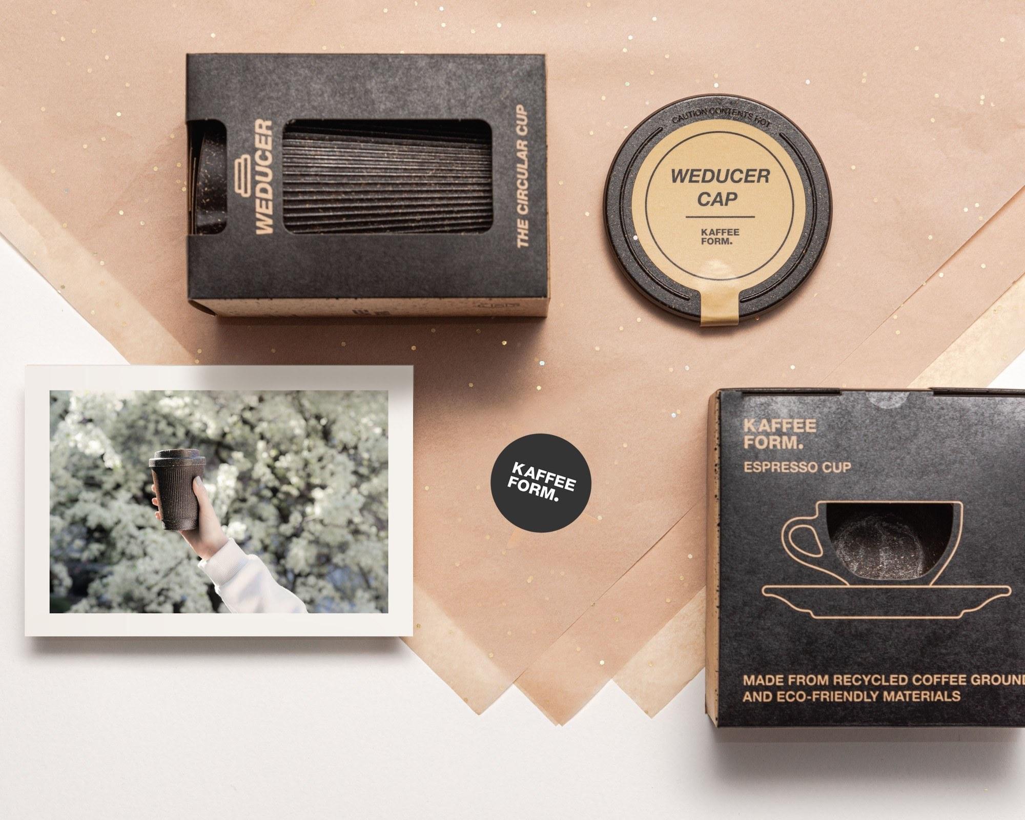 Kaffeeform Geschenkservice mit Weducer, Cap, Espresso Cup, Grußkarte und Geschenkpapier