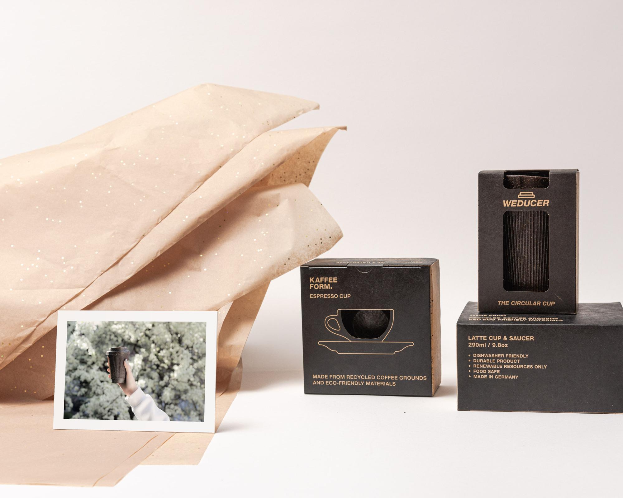 Kaffeeform Geschenkservice mit Weducer, Cups, Geschenkpapier und Grußkarte