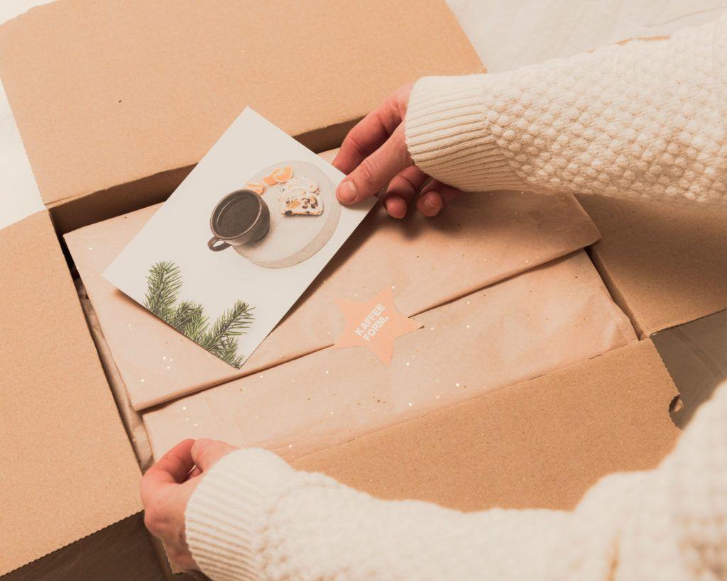 Kaffeeform Geschenkservice mit Geschenkpapier und Grußkarte